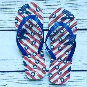 America • Patriotic Flip Flops Eagle Star & Stripe